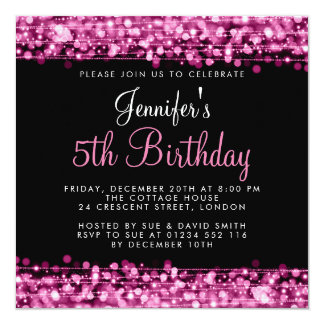 Le bébé/partie d'anniversaire de enfant miroite carton d'invitation  13,33 cm