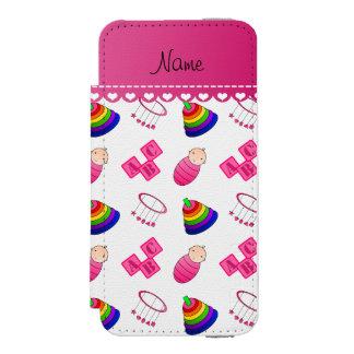 Le bébé rose blanc nommé bloque les jouets mobiles coque-portefeuille iPhone 5 incipio watson™