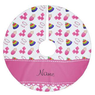 Le bébé rose blanc nommé bloque les jouets mobiles jupon de sapin en polyester brossé