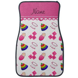 Le bébé rose blanc nommé bloque les jouets mobiles tapis de sol