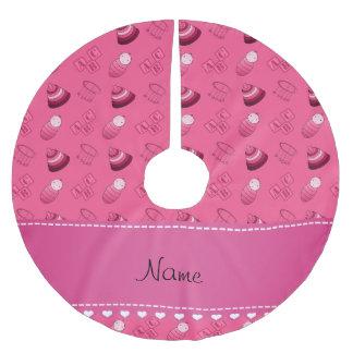 Le bébé rose nommé personnalisé bloque les jouets jupon de sapin en polyester brossé