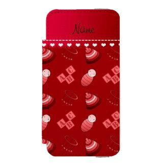 Le bébé rouge nommé personnalisé bloque les jouets coque-portefeuille iPhone 5 incipio watson™