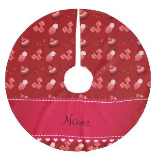 Le bébé rouge nommé personnalisé bloque les jouets jupon de sapin en polyester brossé
