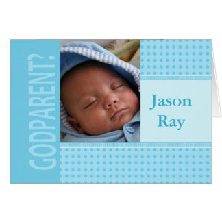 Le bébé soit mon invitation de parrain carte de vœux