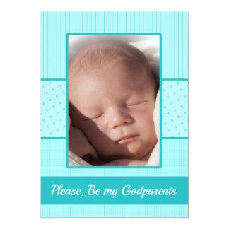 Le bébé soit mon invitation de parrains