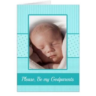 Le bébé soit mon invitation de parrains carte de vœux