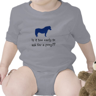 Le bébé veut le poney t-shirt