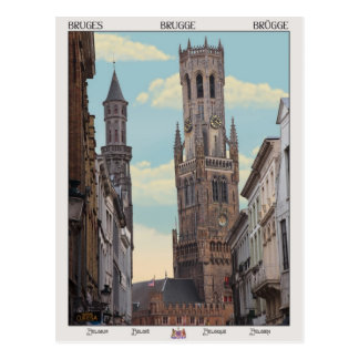 Le beffroi à Bruges Cartes Postales
