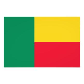 Le Bénin - drapeau béninois Photographies D'art
