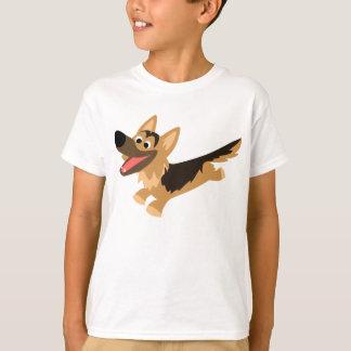 Le berger allemand de bande dessinée heureuse t-shirt