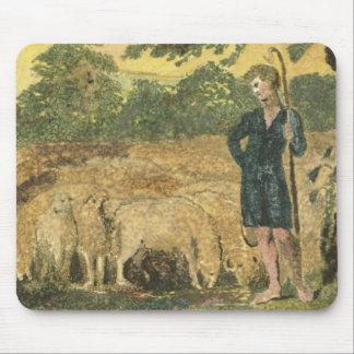 """Le berger, des """"chansons de l'innocence"""", 1789 (co tapis de souris"""