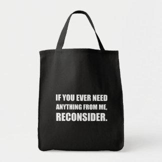 Le besoin quelque chose reconsidèrent sacs en toile