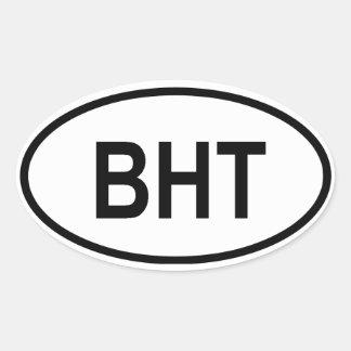 "Le Bhutan ""BHT "" Autocollants Ovales"