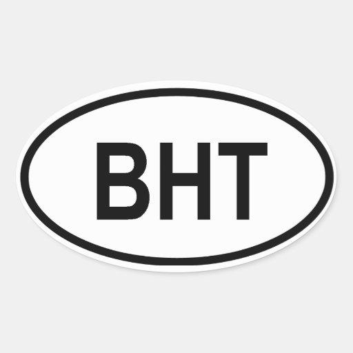 "Le Bhutan ""BHT "" Autocollant"