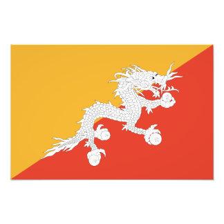 Le Bhutan - drapeau bhoutanais Impression Photo
