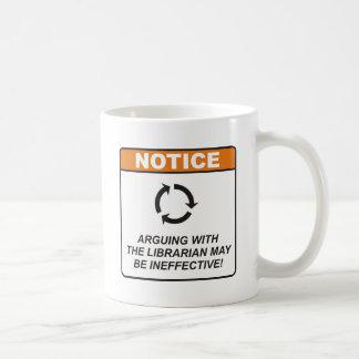 Le bibliothécaire/discutent mug