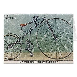 Le Bicyclette-1879 de Lawson - affligé Carte De Vœux