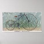 Le Bicyclette-1879 de Lawson - affligé Poster