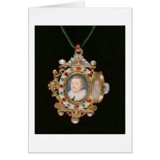 Le bijou de Gresley, avec les portraits miniatures Carte De Vœux