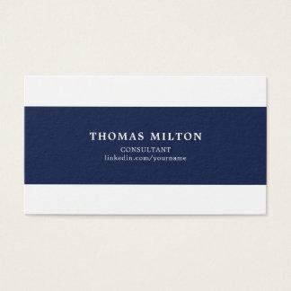 Le blanc bleu élégant simple barre le conseiller cartes de visite