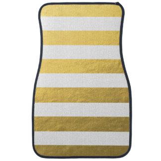 Le blanc élégant barre la feuille d'or imprimée tapis de sol