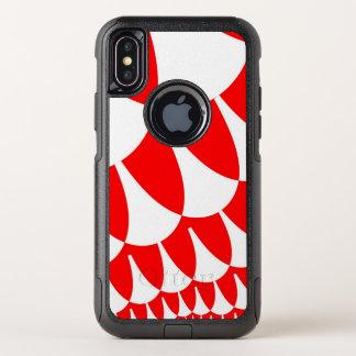 Le blanc rouge mesure la caisse de l'iPhone X