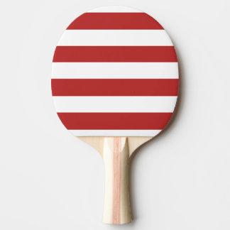 Le blanc rouge moderne barre le rouge et le whi de raquette de ping pong
