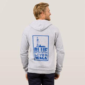 Le bleu classique vit le sweat - shirt à capuche