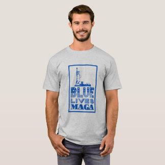 Le bleu classique vit T-shirt de MAGA