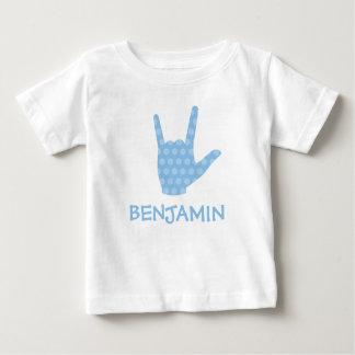 Le bleu de langue des signes d'ASL je t'aime T-shirt Pour Bébé