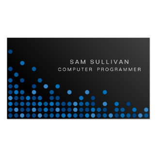 Le bleu d'informaticien pointille l'Internet Carte De Visite Standard