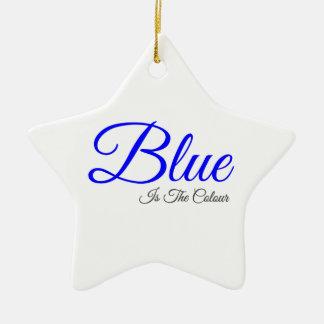 le bleu est la couleur ornement étoile en céramique