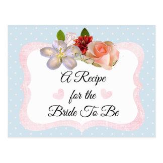 Le bleu et l'or rose rougissent carte rose de