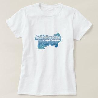le bleu fleurit des demoiselles d'honneur d'océan t-shirt