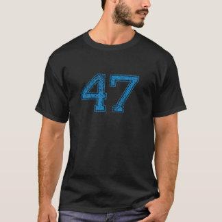 Le bleu folâtre Jerzee le numéro 47 T-shirt