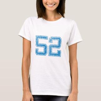 Le bleu folâtre Jerzee le numéro 52 T-shirt