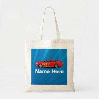 Le bleu lumineux avec la voiture de sport rouge sac de toile