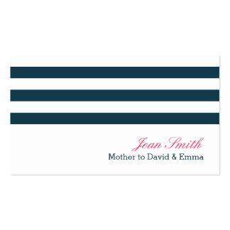 Le bleu marine nautique barre la maman carte de visite