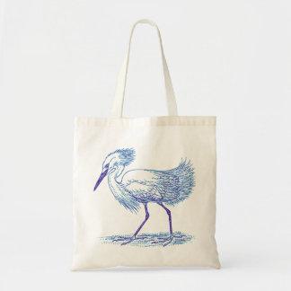 Le bleu modifie la tonalité l'oiseau de héron sacs en toile