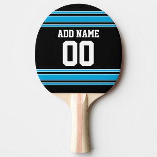 Le bleu noir folâtre le Jersey avec votre nom et Raquette Tennis De Table
