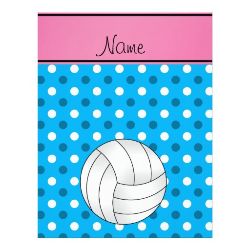Le bleu nommé fait sur commande de volleyball prospectus avec motif
