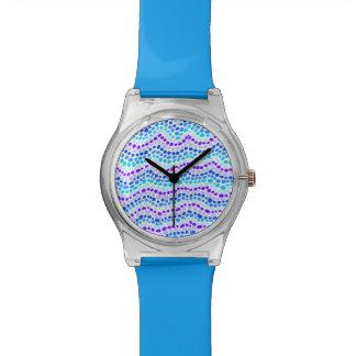 Le bleu pointille la montre de May28th Montres