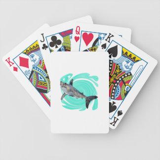 Le bleu profond jeu de cartes