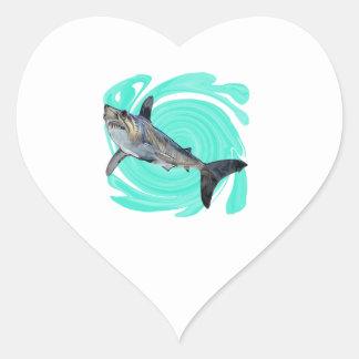 Le bleu profond sticker cœur