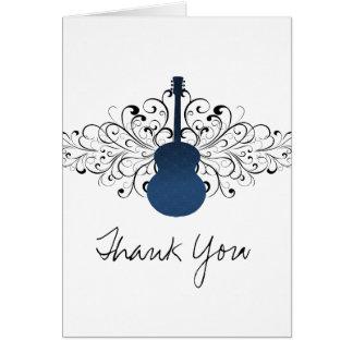 Le bleu royal tourbillonne carte de remerciements