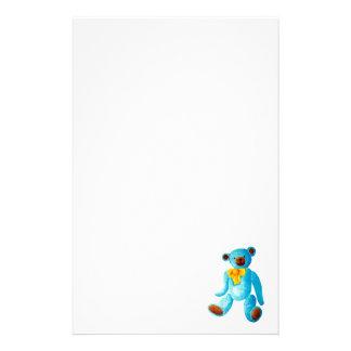 Le bleu style vintage/traditionnel a peint l'ours papier à lettre personnalisé