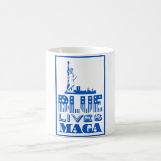 Le bleu vit tasse de café de MAGA
