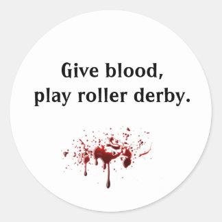 le bloodsplat, donnent le sang, rouleau Derby de Sticker Rond