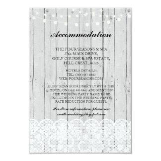 Le bois gris de logement de dentelle allume des carton d'invitation 8,89 cm x 12,70 cm