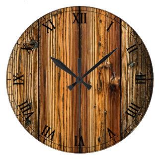 le bois multicolore modèle des textures grande horloge ronde